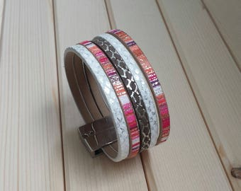 Cuff Bracelet with magnetic clasp