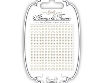 Board of 240 stickers 3mm - AFAPRL001 ivory pearls