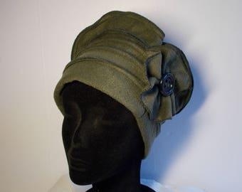 Khaki green fleece Hat