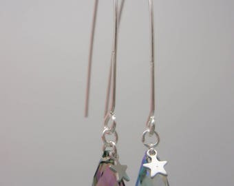 """Bullet"" Rainbow earrings"