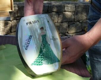 Vase hand painted porcelain haute couture