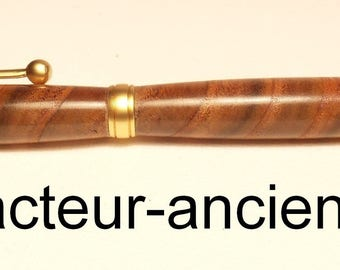 WOOD pen with vinegar (sumac) end