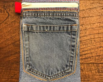 Pencil / Makeup Bag Made from Recycled Jeans