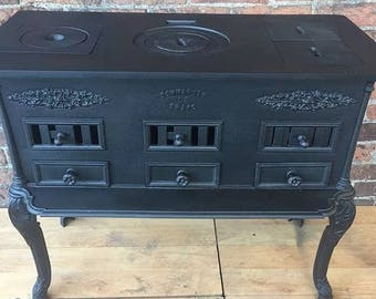 Antique french cast iron food warmer/ stove