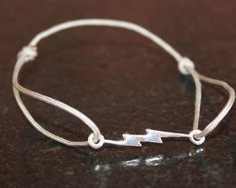 Bracelet gray TAUPE ZIPPER 925 Silver