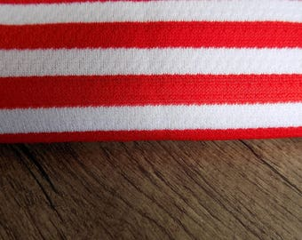 Red/White stretch fabric