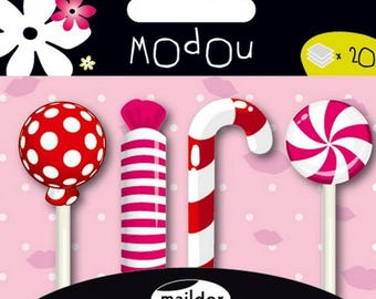 Sticky memo Modou Marker - candy red and pink - 80 pcs - new