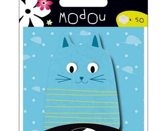 Sticky memo Modou - cat blue - 50 pcs - new