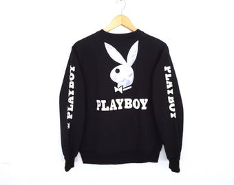 Playboy Big Logo Spellout Embroidery Pullover Jumper Sweatshirt