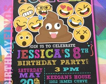 Emoji Invitations / Emoji Birthday / Emoji Party / Emoji Birthday Party / Emoji Birthday Party Invitation / Emoji Card / Emoji Invite