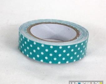 masking tape 15 mm cotton blue polka dots