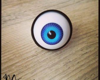 """""""Doll eye"""" ring in light blue bronze"""