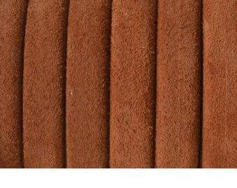 GORGEOUS suede leather from Regaliz - Camel - 10x6mm - by 20cm - CO1016MAR1013 1st quality