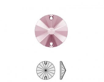 Connector - Element Swarovski® 3200 Rivoli Sew On Stone 14mm - Crystal Antique Pink F - CABSW1416VRO812