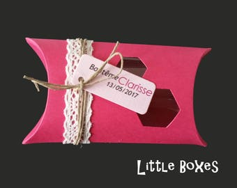 Box dragees cherry lace and fuchsia