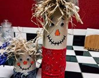 Handmade Fall Scarecrows
