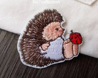 Hedgehog Embroidery Patch