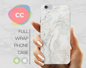 iPhone 7 Case - White Marble Phone Case - iPhone 8 Case - iPhone 6 Case - iPhone 5 Case - iPhone X Case - Samsung S7 Case - PC-304