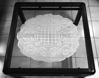 New doily hand crotheted cotton tablecloth