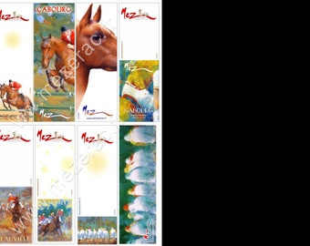 Brand-pages collection, horse theme by the artist Martin deMEZERAC