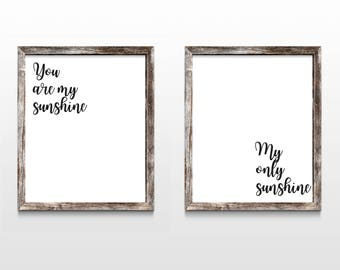 You Are My Sunshine (wall art, downloadable art)