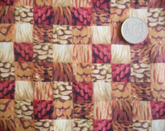 Spice - printed cotton fabric with a checkerboard spices (coupon 55 x 45 cm) 100% Cotton Patch