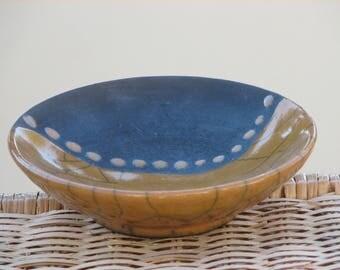 Cup stoneware Raku firing with smoked decoration