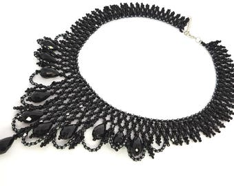 """Necklace """"The Black Swan"""""""