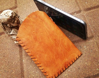 Handmade Leather cell Phone pouch