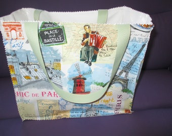 shopping bag or bag lunch Paris and its monuments, fathers day gift