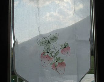 Curtain cotton Strawberry pattern