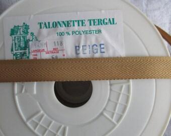 beige heel in tergal polyester in height 1.5 cm