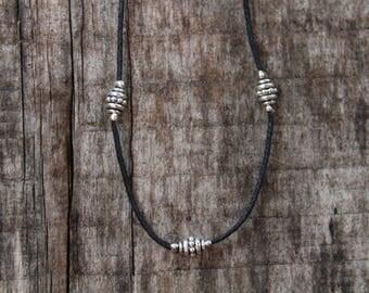 Silver Beaded Anklet Bracelet