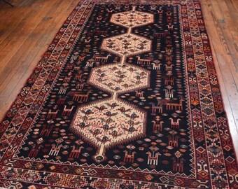 Vintage Persian Hamadan Rug, 5u00274u0027u0027x9u00273u0027u0027,