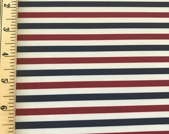 NEW! Navy, White and Red Nylon Lycra Spandex for Swimwear, Sportswear and Dancewear Fabric