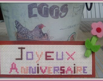 Embroidered card * happy birthday!