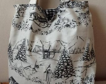 Cotton tote bag bright mountain