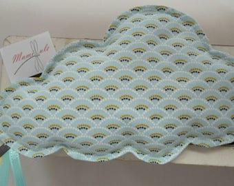 Little cloud pattern Rainbow-flaxseed heating pad