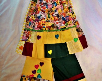 EMOJI    handmade two piece outfit