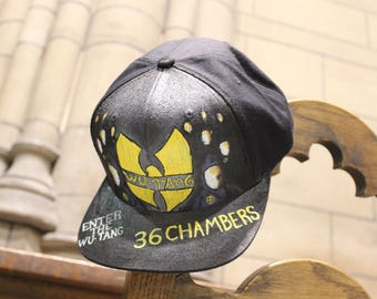 NEW! Hand Painted Wu Tang Hat!