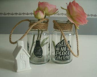 set of 2 bottles vases