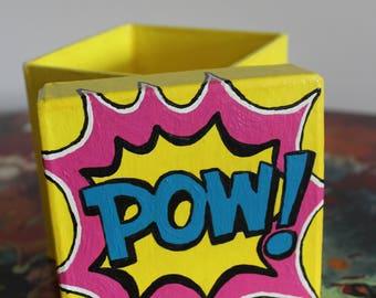 Pow Comic paper mache box