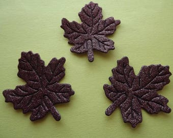 Appliques large Brown glitter sheets (x 4)