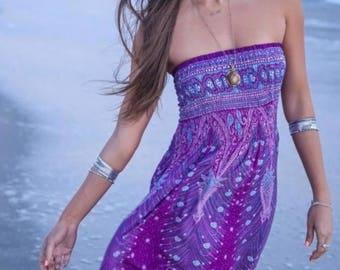 Bohemian Feather Paisley Maxi Dress
