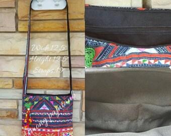 Vintage Hmong /Batik Handmade /Shoulder bag