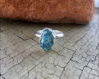 Size 7 Sterling Turquoise Ring
