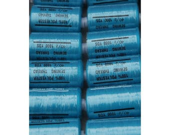 Turquoise polyester thread dark 208 1000 yards