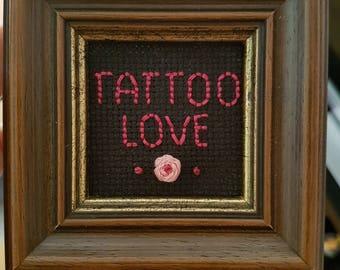 Tattoo Love Cross Stitch