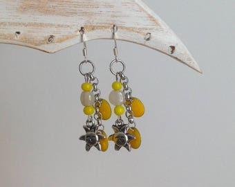 Sunshine yellow earrings