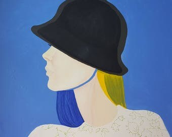 BLUE - abstract portrait